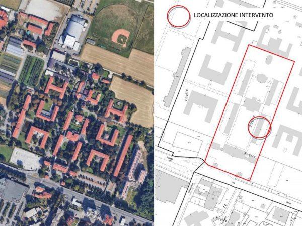 Il contesto urbano del quartiere Borgo Palazzo in cui si colloca l'esperienza innovativa di co-housing